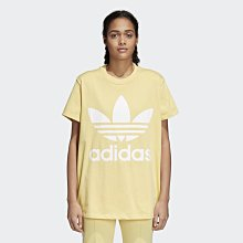 ☆丸子精品舖☆【adidas Originals Oversized Tee 大三葉草 CE2438 鵝黃】正品現貨