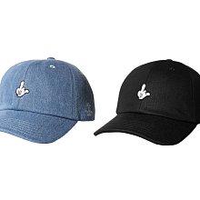 { POISON } LESS LIFM BALL CAP 米老鼠L與中指結合雙關刺繡 彎沿老帽