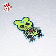 貼紙王國 暴力兔卡通03動物車貼 汽車摩托防水反光貼紙 個性貼花