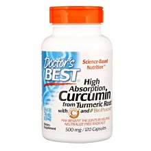 美萊美貨UA~Doctors Best High Absorption Curcumin 姜黃素500mg 120粒