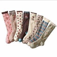 ❤厤庭童裝舖❤最後一組【I141】女孩花朵素雅長統襪/襪子(15-19CM )三雙一組99元
