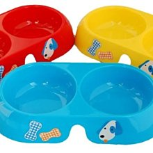 [P924] 圓形雙連碗(L) 寵物碗/兩用碗/水碗/狗碗/貓碗/食碗