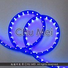 110V-藍色外皮LED二線3528水管燈50米 - led燈條 燈條 圓二線 非霓虹 led 水管燈 管燈 軟條燈