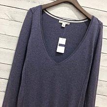 Maple麋鹿小舖 Banana Republic * Banana 紫色大V領薄羊毛上衣 * ( 現貨S號 )