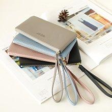 【里樂@ LeaThER】馬卡龍拉鍊手拿包(加長版) 零錢包卡包鑰匙包 巧 727