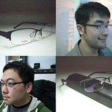 【信義計劃眼鏡】岡崎健司光學眼鏡,日本製厚板鈦金屬 超輕超薄下無框 IP Titanium