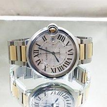 順利當舖  Cartier/卡帝亞  42mm大錶徑18K半金新款藍氣球時尚帥氣自動錶款