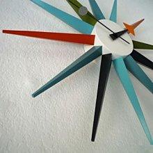 【 一張椅子 】 美國 George Nelson 設計款 Sunburst Clocks 光芒鐘 復刻版
