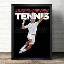 網球裝飾畫大滿貫羅傑費德勒納達爾健身會所實木框畫掛畫