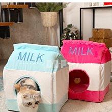 貝多芬寵物/牛奶盒貓房貓窩四季通用貓咪封閉式房子別墅冬季保暖