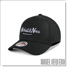【ANGEL NEW ERA】Mitchell & Ness MN 經典排字 黑銀配色 老帽 有彈性 可調式 潮流