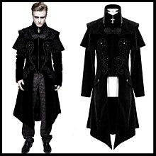 *MINI PUNK LOLO*歐洲中古世紀-慕光之城.吸血鬼伯爵華麗絲絨印花披肩式哥德大衣外套(CT13401)