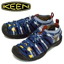 =CodE= KEEN EVOFIT 1 SANDALS 編織彈性綁繩護趾防水包頭涼鞋(藍圖騰黑) 1021395 男