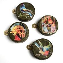 Jessica Kagan Cushman 台北ShopSmart直營店 小物收納 零錢 鑰匙包 橄欖綠底油畫 ANGRY BIRD
