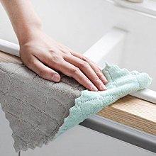 【珊瑚絨抹布】 韓國加厚不掉毛雙面 抹布 無水痕珊瑚絨雙面 超吸水抹布 清潔布 25x25cm 洗碗 餐具