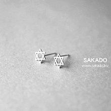 925純銀耳環-阪堂SAKADO-簡約符號標誌款--六芒星