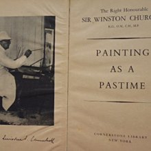 ///李仔糖舊書*1965年英文原版PAINTING AS A PASTIME彩色畫冊(k380)