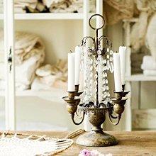 ROSE 歐洲宮廷風鐵藝復古做舊燭台 含蠟燭