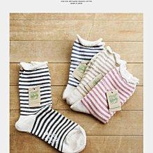 乾媽店。日本製 SMALL STONE SOCKS 中長襪 有機棉襪 女襪 襪子 橫條款/共四色