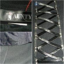 ※都會名牌※【Jaunty】左前方交叉綁帶水鑽裝飾開叉黑色長裙-AP3