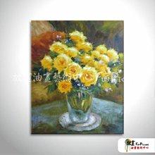 【放畫藝術】印象派花卉A11 純手繪 油畫 直幅 黃綠 暖色系 印象 掛畫 無框畫 民宿 室內設計 居家佈置