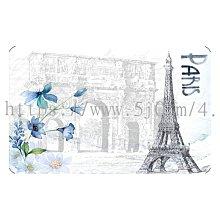 〈亮晶細沙 卡貼 貼紙〉 法國 巴黎 艾菲爾鐵塔 貼紙 悠遊卡貼紙
