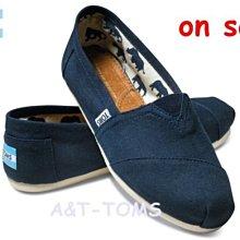☆╮A&T-TOMS╭☆專賣 美國品牌TOMS帆布鞋Classics Canvas懶人情侶經典基本款【藍】