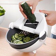 【用心的店】多功能切菜器 瀝水籃切菜器 土豆切片切絲器洗菜籃家用刨絲器