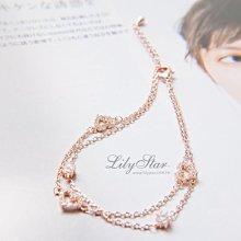 LilyStar.精緻質感鏤空愛心碎鑽手鍊 【YS1853】