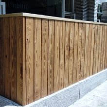 橙舍木地板~碳化南方松圍籬