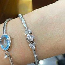 1.03克拉天然鑽石手環,經典款式,搭配18K金材質,超值優惠出清價58800元,厚金打造5.5錢重,優惠活動商品只有一個