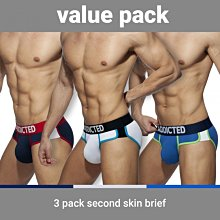 ADDICTED AD897P SECOND SKIN 3 PACK BRIEF 三角內褲 超值三件組【G-Punch】