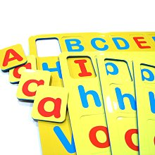 超取賣場(無法合併結帳:<方塊字母磁鐵(大小寫)>紅母音 藍子音 大小寫字母 磁鐵可吸白板 --MagStorY磁貼童話