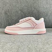 【哈極品】全新品《CHANEL 香奈兒 粉白色帆布 運動鞋/帆布鞋/休閒鞋/平底鞋》