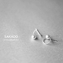 925純銀耳環-阪堂SAKADO-韓版設計師款--螺旋珍珠
