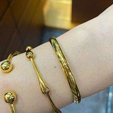 台K金手環,經典黃K金刻素面亮面手環,閃亮耀眼,現貨一個,新品上市優惠價,2.49錢重,16.7圍,最經典的款式最好搭配,適合堆疊方式配戴
