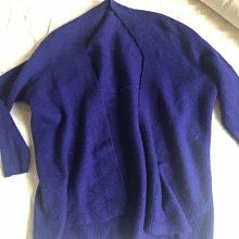 Giordano ladies 藍紫色 蝙蝠袖毛衣罩衫 2