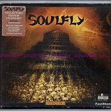 799免運~SOULFLY 飛靈樂團【CONQUER 征服】加州重金屬搖滾樂團英語專輯美國原版CD+DVD紙盒版~免競標