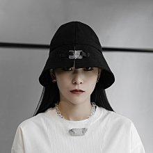 ►DR.DESIGN│DR32607特價-闇黑 暗黑系 戰術扣 裝飾明線 遮陽 漁夫帽 黑/卡其 男女可