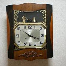 西風((( 法國ODO上段人形叩鐘 時打嗚 掛時計 )))