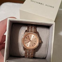 全新正品MICHAEL KORS MK玫瑰金女錶 MK3910 不銹鋼材質細鑽錶帶 鑲鑽腕錶 MK ROSE GOLD TONE WATCH