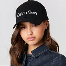 美國 Calvin Klein 卡文克萊CK 黑色大LOGO繡字棒球帽 鴨舌帽 防曬遮陽帽 高爾夫球帽 愛Coach包包