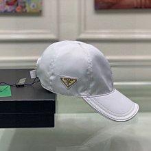 Prada 經典 中性款 鴨舌帽 老帽 棒球帽, 經典倒三角金屬logo,牛津布料+牛皮,輕盈透氣!質量超贊,基礎頭圍56,貼片可調節 ,私留款 推