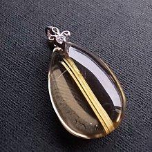 ☆采鑫天然寶石☆ **與眾不同** 頂級 超高淨度 放光鈦晶墜~極美珍藏