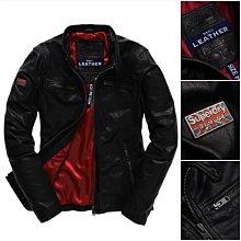 極度乾燥 Superdry Real Hero Leather 真皮 機車 皮衣 騎士夾克 合身版型 外套 黑 現貨