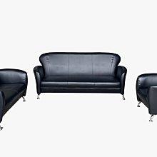 台北【宏品二手家具館】中古傢俱 EA304GB*全新小丸子黑色1+2+3皮沙發*全新中古家具買賣 客廳家具 沙發 茶几