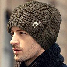 麋鹿刺繡立體方格條紋雙層圓帽 Q941-4 秋冬造型保暖 沼綠款 帽子專賣店