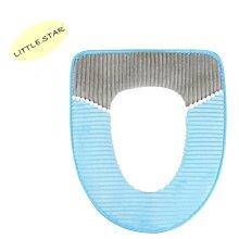 LITTLE STAR 小新星【炫彩條紋加絨馬桶墊】通用坐墊馬桶套毛絨坐便墊