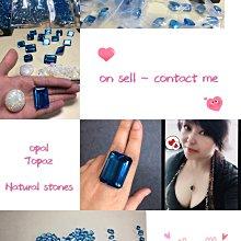 (陳淑芬手作/裸石系列)天然托帕石產地批售。巨大,色澤鮮亮,冰透,超強火彩,帶有霓虹藍電光感,肉眼乾淨珠寶級。