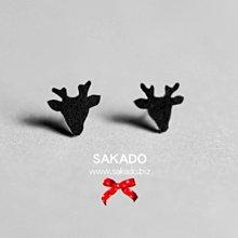 """阪堂SAKADO手工耳釘--聖誕限量版--""""麋鹿"""""""